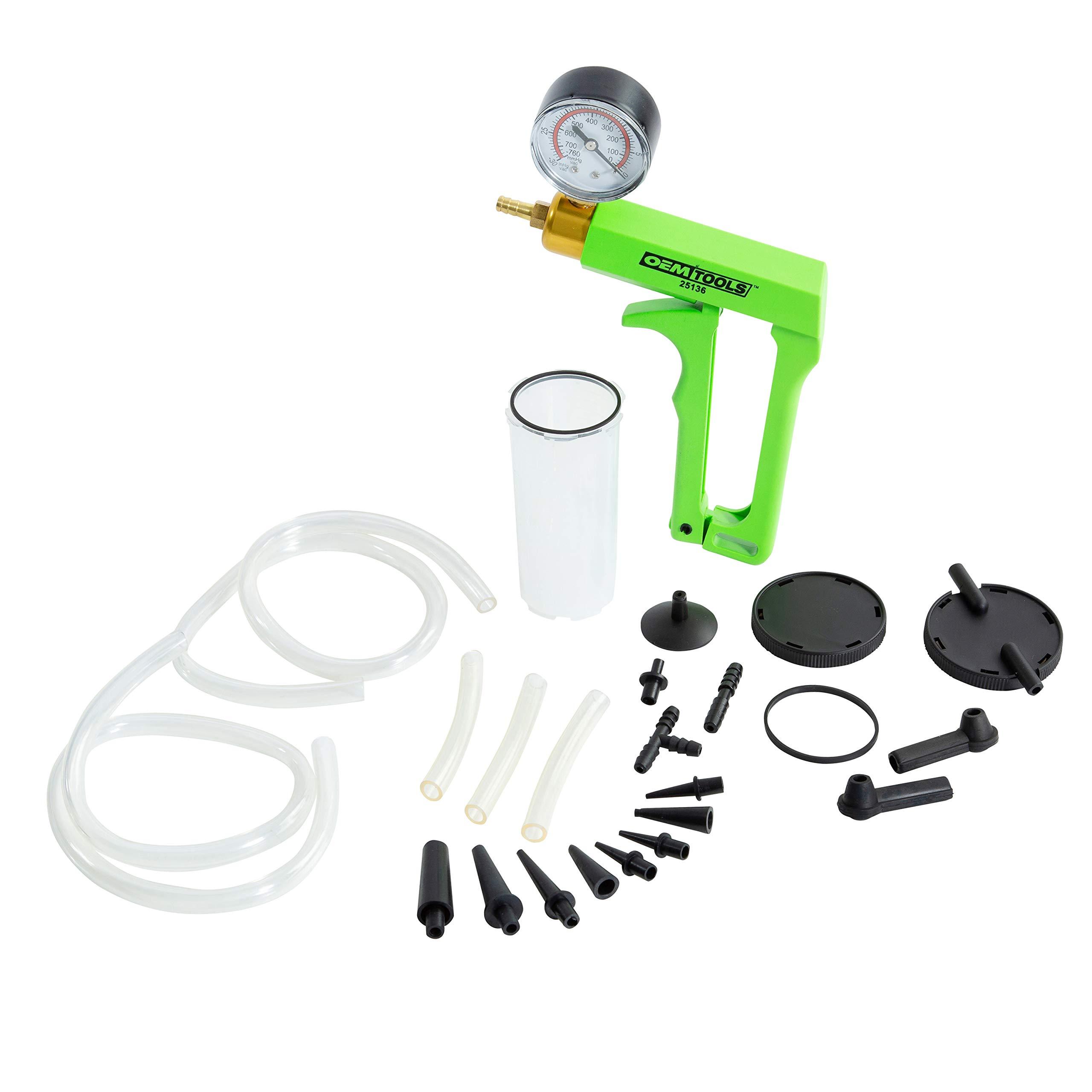 OEMTOOLS 25136 One Man Brake Bleeder & Vacuum Pump Test Kit, Useful Tool for Automotive Tune-Ups, Diagnosis, & Testing, One-Person Brake Bleeding