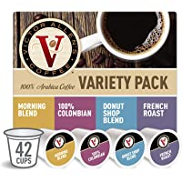 Donut Shop, Morning Blend, 100% Colombian, and French Roast Variety Pack for K-Cup Keurig 2.0 Brewers, 42 Count, Victor…
