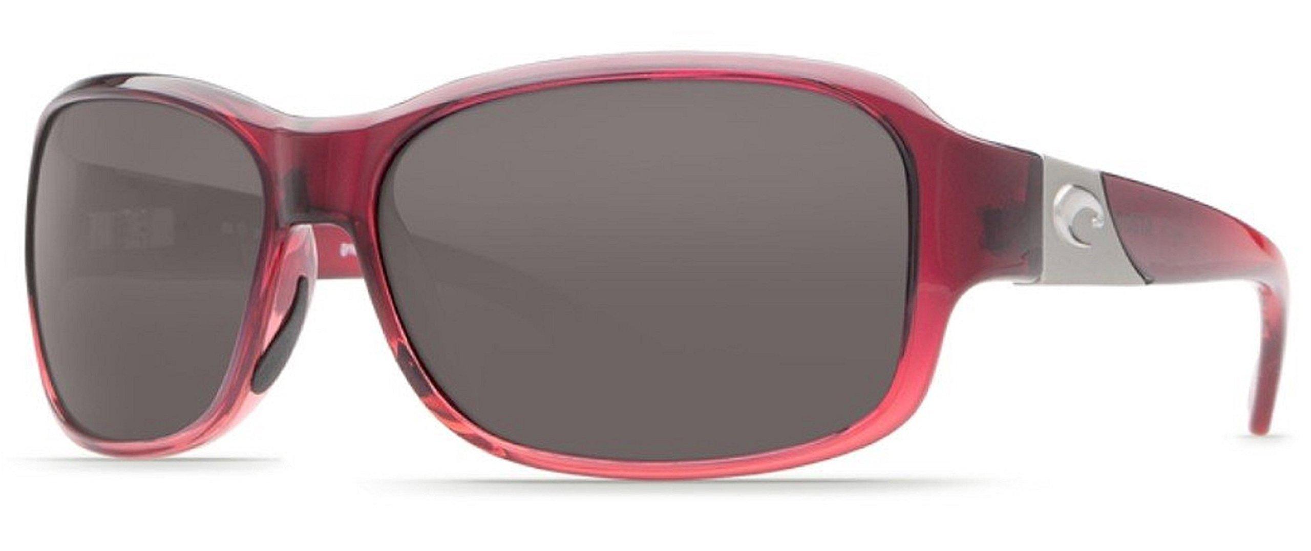 Costa del Mar Inlet Sunglasses Pomegranate Fade/Gray 580Plastic by Costa Del Mar
