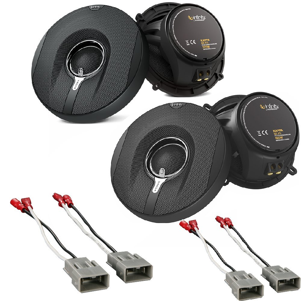 Infinity Kappa 150w 65 Inch 2 Way Series Coaxial Dodge Ram Speaker Wiring Front Speakers 2pairs W Metra 72 7800 Connector Harnesses For Select Honda Vehicles