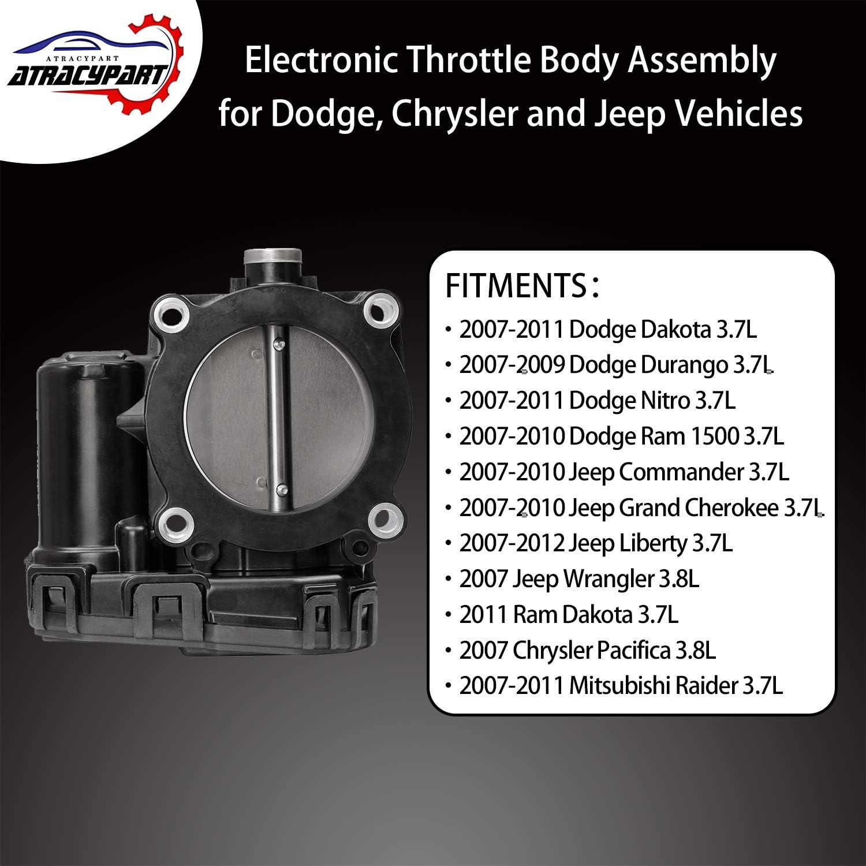 Part# 04861661AA Electronic Throttle Body with IAC TPS For Dodge Dakota Durango Nitro Ram 1500 Jeep Commander Grand Cherokee Liberty Mitsubishi Raider 04861661AB
