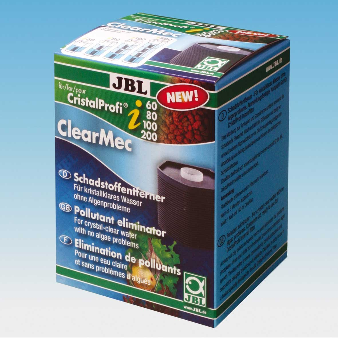 JBL Clearmec Bloc CPi, Équipement de filtration avec éliminateur de nitrites, Nitrates et phosphates pour CristalProfi i 6093200