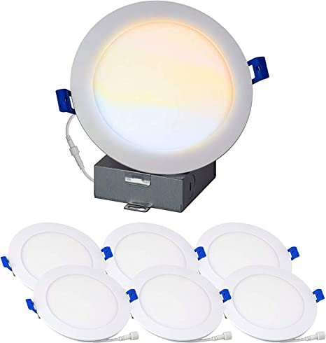 40W 6 PACK 4-INCH RECESSED LED DOWNLIGHT DIMMABLE 5000K DAYLIGHT 9W
