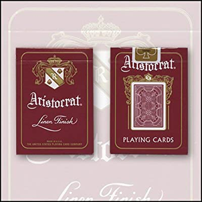 Bicycle Aristocrat 727 Bank Note Cards (Red) by USPCC - Trick: Toys & Games