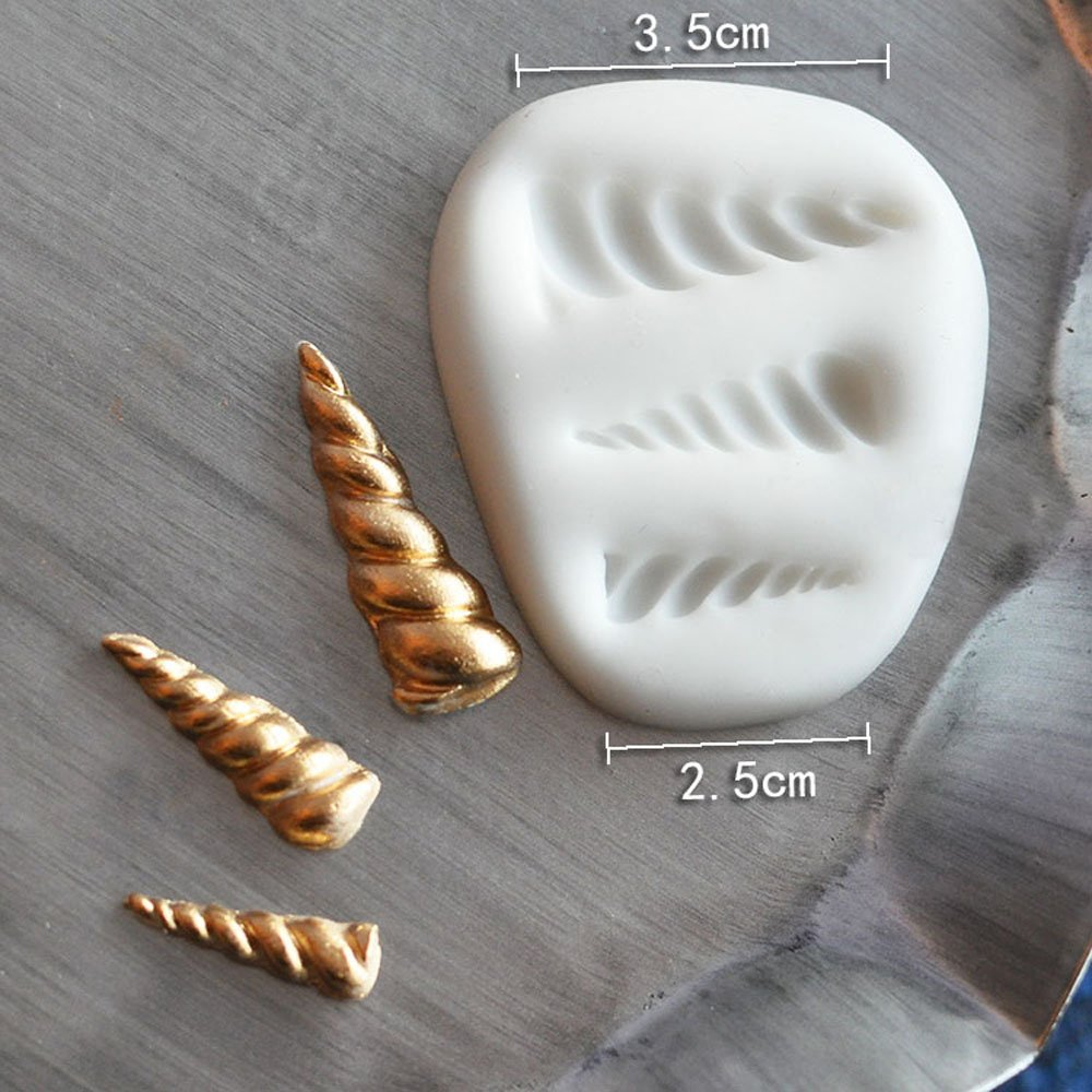Amazon.com: Unicorn Fondant Mould Gumpaste Cake Mini Mould Food Silicone Horn Ear Eye Design Mat for Cake Decorating 2 Pack: Kitchen & Dining