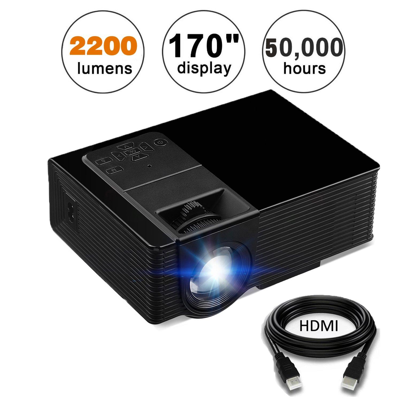 kuak Android LED LCD mini proyector de vídeo portátil Wifi ...