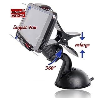 Universal Coche Soporte de parabrisas ventosa para teléfono móvil smartphone GPS PDA, Giratorio 360 °, Negro, kxc5003: Amazon.es: Electrónica