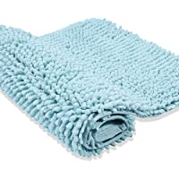 Cosyroom Bath Mat Rug Rectangle Extra Soft Bathroom Door Mat Rug with Microfiber Chenille, Non Slip Bath Shaggy Floor Mat High Absorbent Water for Home Bedroom Tub Shower Toddlers