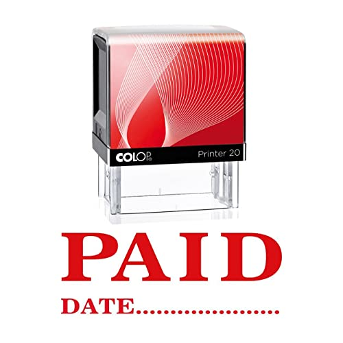 PAID WITH DATE Self Inking Rubber Stamp Office Stationary Custom Shiny Stamp