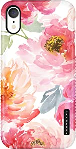 iPhone XR Case for Girls, Vintage Floral Case, Akna Sili-Tastic Series High Impact Silicon Cover (Graphic 101998-U.S)