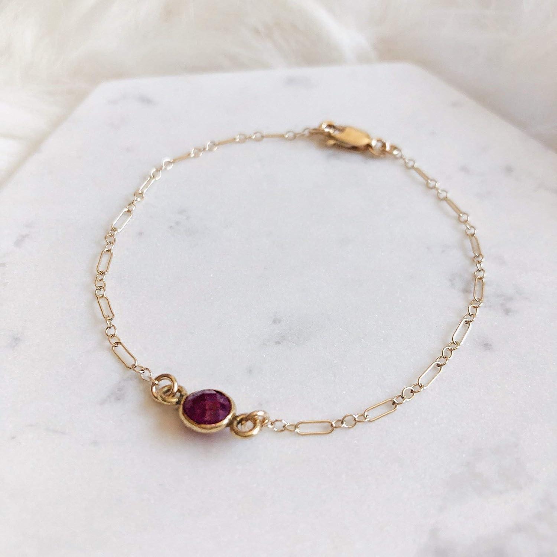 06099c020 14k Gold Filled Ruby Stone Dainty Bracelet, Delicate Bracelet, Simple  Bracelet, Layered Bracelet, Stackable Bracelet, Everyday Bracelet, Gold  Bracelet, ...