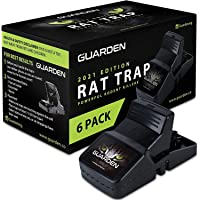 Rat Traps that Work (6 Pack) - Easy to Bait and Set, Reusable Best Rat Traps that Work Indoors and Out, Large Mouse…