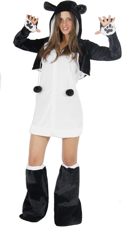 Foxxeo Oso Panda Traje para señoras Traje de Animales Vestido Sexy ...