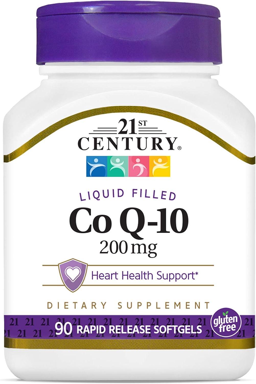 21st Century Co Q10 200 mg Softgels, 90 Count