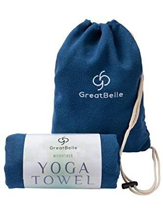 wwww pido Yoga Towel Non-Slip Sweat-Absorbent Towel Convenient Widened Folded Fitness Blanket with Bag 72x26 Exercise & Fitness