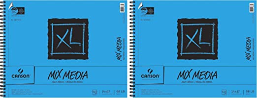 """Canson XL Watercolor Paper Pad 12/""""X18/""""-30 Sheets"""