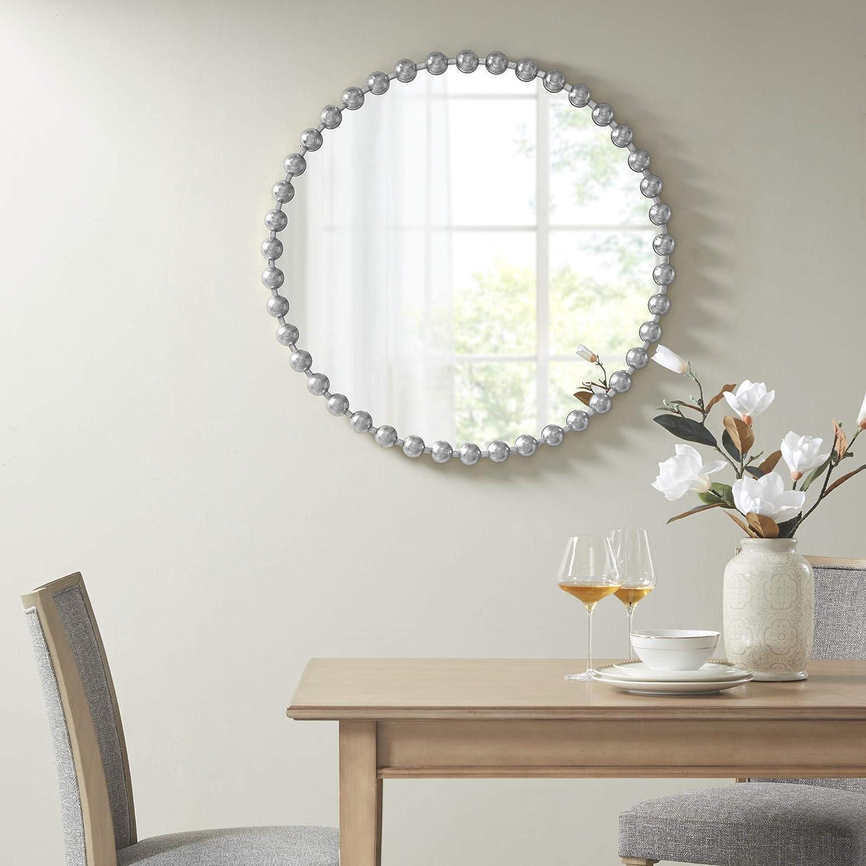 Antique Silver MADISON PARK SIGNATURE Eclipse Decor Mirror