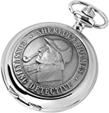 Sherlock Holmes Pocket Watch - Mechanical Movement - with chain, presentation case, warranty & booklet
