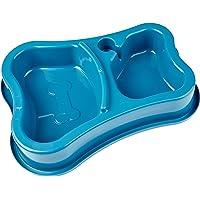 Comedouro Duplo Anti-Formiga Garrafa Azul Pet Injet para Cães