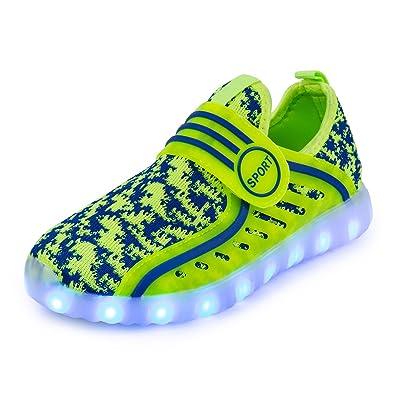 newest 489a8 e519e AFFINEST Unisex-Kinder Sneaker LED Light Up 7 Farben Schuhe Atmungsaktives  Mesh-Oberfläche Sneakers USB Charging Halloween Weihnachten Neujahr