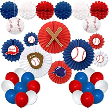 Amazon.com: Kit de decoración de fiesta de béisbol, recortes ...