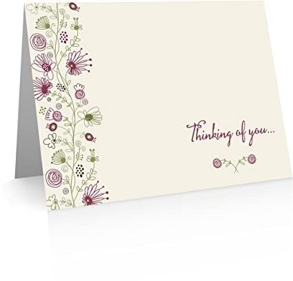 Amazon Com Thinking Of You Cards 12 Note Cards And Envelopes Use