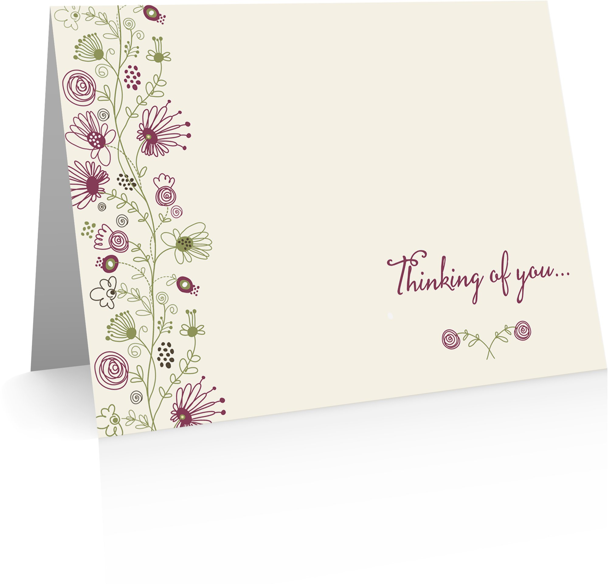 Thinking of You Cards (12 note cards and envelopes) use as Get Well Cards, Friendship Cards, Condolence Cards or love notes