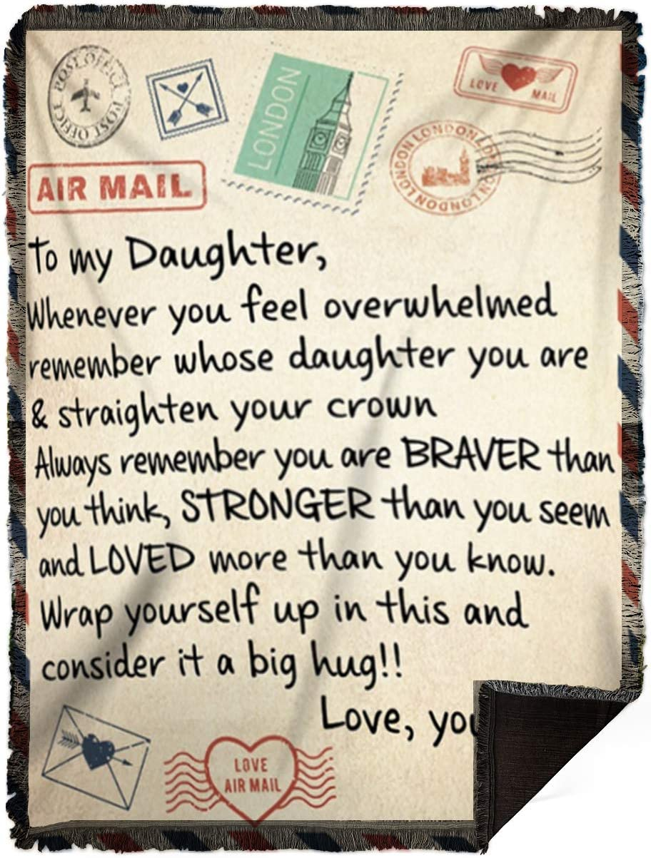 DesDirect Max 44% OFF Store Blanket - Air Mail You F to Daughter Whenever Gorgeous My