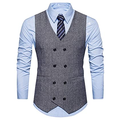 Mens Vest Suit Slim Fit Wool Blend Single Breasted Gray Black Waistcoat Men Waist Coat For Man Special Summer Sale Vests