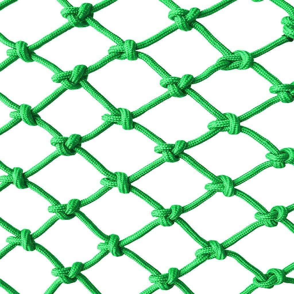 Green indoor balcony protective net construction safety net children's stairs protective net nylon net rope outdoor animal breeding Senna net shatter-resistant net isolation anti-cat net venue fence n by CANQUANWANG