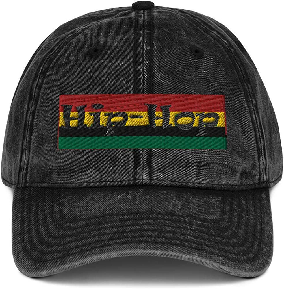 Hip Hop African American Graphic Vintage Cotton Twill Cap