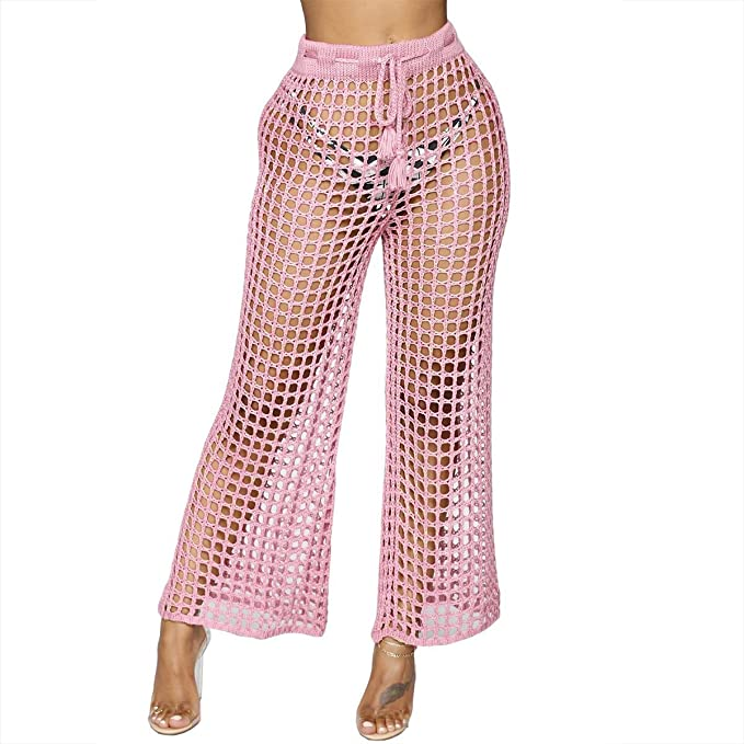 Amazon.com: Dreamparis Pantalones de playa para mujer – Sexy ...