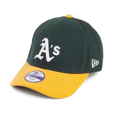83a1f66f1eed Casquette Enfant 9FORTY Oakland Athletics League vert-jaune NEW ERA - Jeune  Ajustable