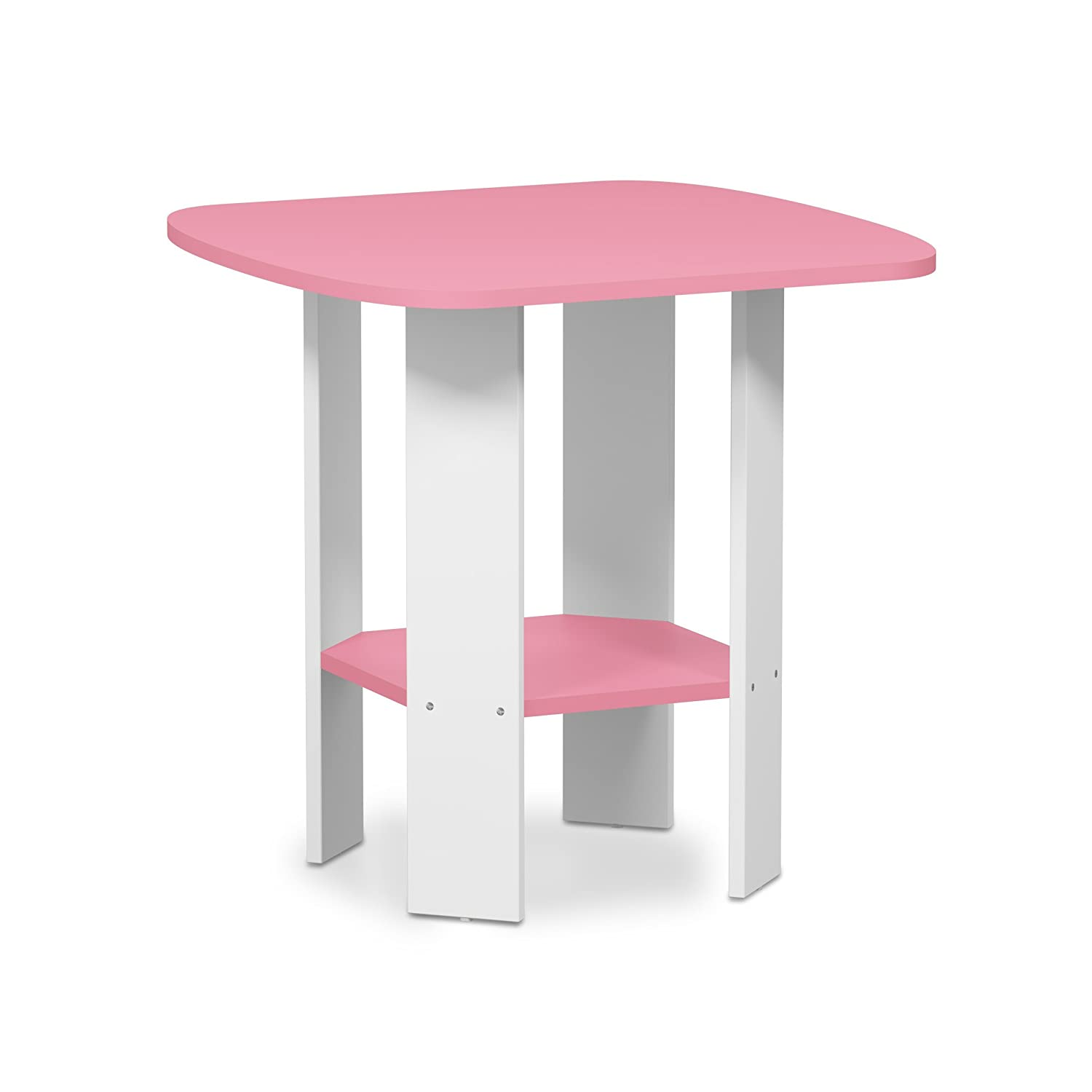 Pink White 1 End Table Furinno 11179DWN Simple Design Coffee Table, Dark Walnut