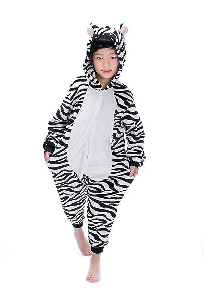 8b7af93700 Pigiama Intero Bambina Tuta Intera Unicorno Bambini Ragazzi Unisex Cosplay  Animale Pasqua Halloween Regalo (M