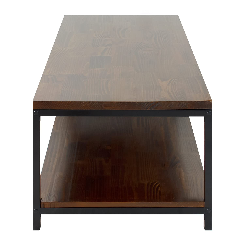 Amazon Casual Home Metro Coffee Table with Black Frame Mocha