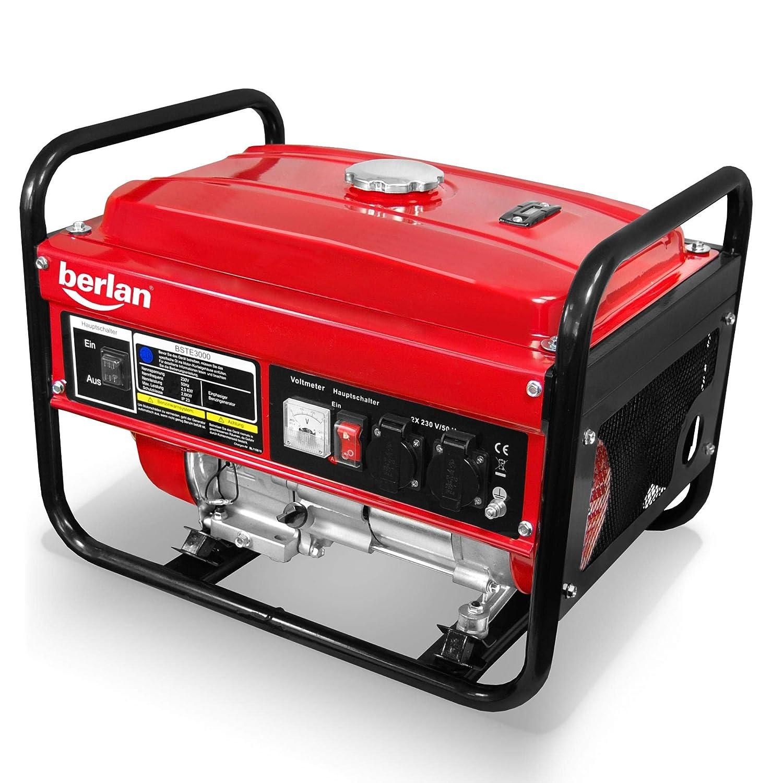 Generador eléctrico de gasolina Berlan BSTE3000 - 2800 Watt ...