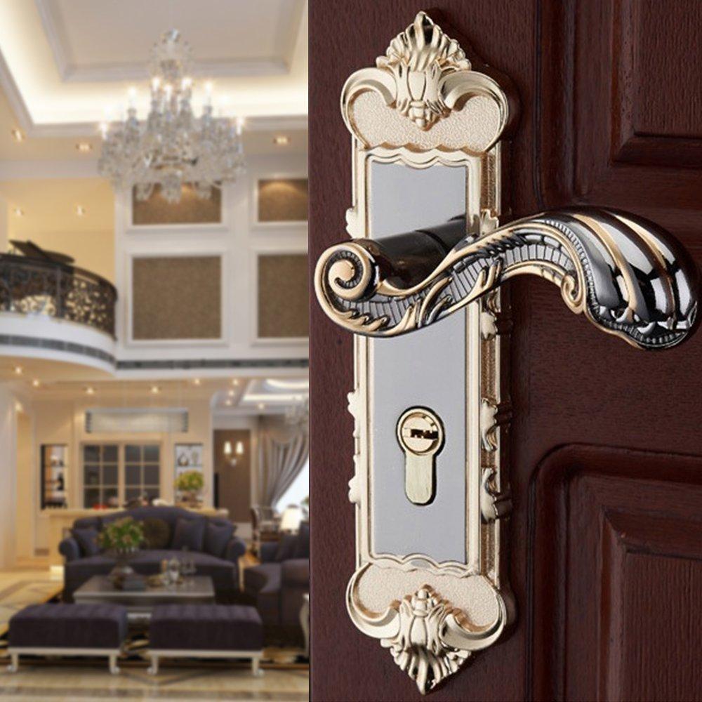 Aluminum Entry Indoor Lever Door Lock Set Bedroom Handle Knob Lockset & Keys by TFCFL (Image #8)