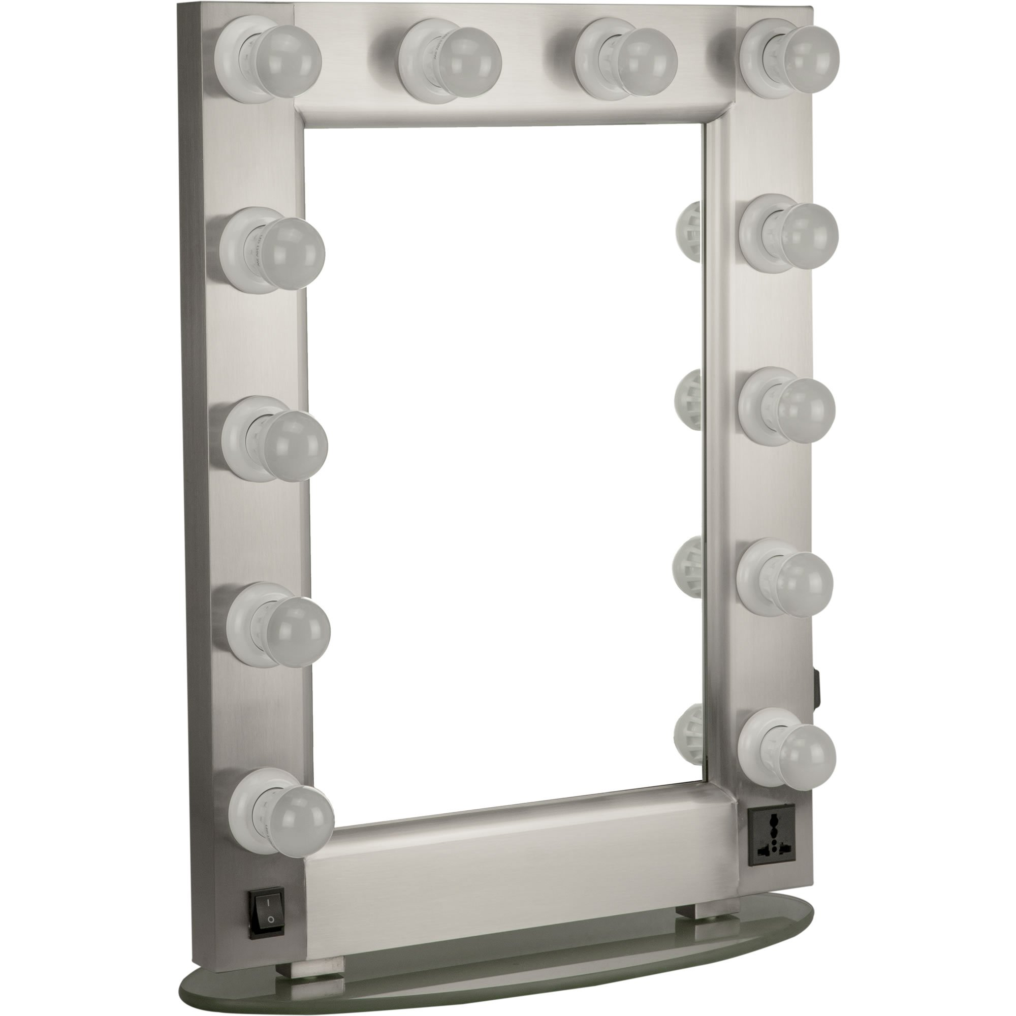 Professional 12 LED Light Glass Stand Tabletop Wall Mounted Tabletop Makeup Cosmetic Beauty Hairstylist Mirror