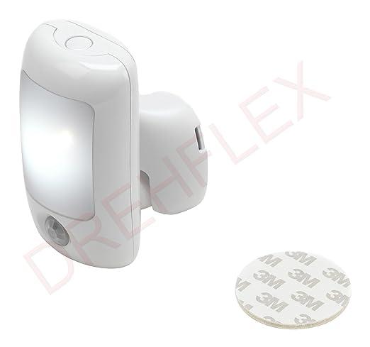 DREHFLEX® Luz nocturna con detector de movimiento LED 0,5 W Samsung – Chip