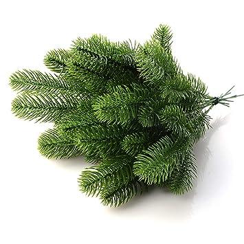 Weihnachtsbaum Ast.Yalulu 20 Stück Kiefer Ast Künstliche Kunstpflanze Künstliche Blume