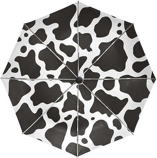 Leopard Pattern Automatic Tri-fold Umbrella Folding Rain Umbrell Sunshade