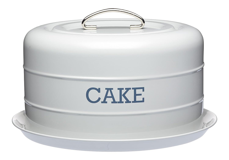 Living Nostalgia Airtight Domed Cake Tin, 28.5x18cm, Grey, Tagged KitchenCraft LNCTGRY
