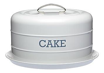 Articles Pour Le Four Cuisine, Arts De La Table Living Nostalgia French Grey Domed Cake Tin