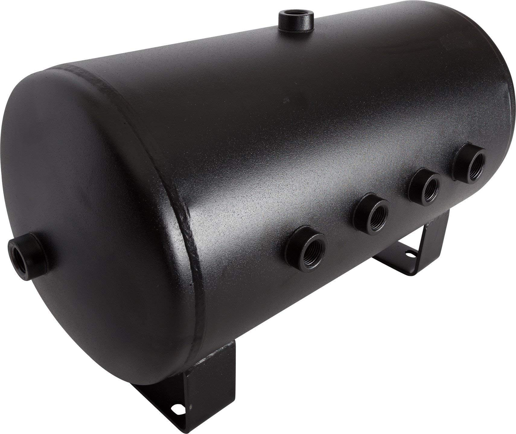 HornBlasters 5 Gallon 8 Port Black Steel Air Tank