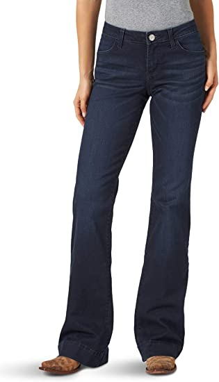 Wrangler Pantalones Vaqueros Retro Mae De Tiro Medio Y Pierna Ancha Para Mujer Amazon Com Mx Ropa Zapatos Y Accesorios