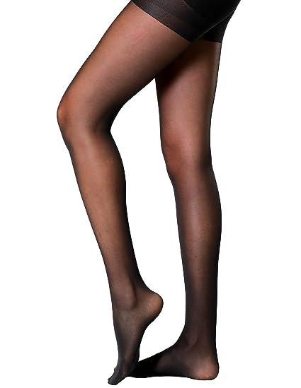8a4ff0e49d38d Women's Half Sheer Pantyhose Semi Opaque Control Top Push Up Tights of  SUREPOCH (B,