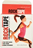 """RockTape Kinesiology Tape for Athletes, Water Resistant, Reduce Pain & Injury Recovery, 2"""" x 16.4 Feet, Uncut or Pre-Cut Strips"""