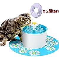 Leegoal Bebedero Gatos Perros Automático, Silenciosa Saludable Fuente de Agua para Gatos y Perros, Dispensador de Agua para Gatos, Perros, Mascotas, contiene 2 Filtros De Carbón Activado, 1.6L