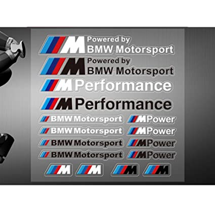 Encell Vinyl Sports Decal Car Sticker For BMW,Black